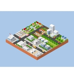 City with houses vector