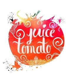 Colorful bright hand lettering poster vegetables vector image