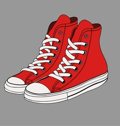 Comfortable sports gumshoes vector