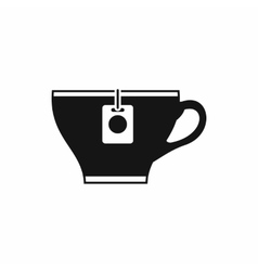 Cup with teabag icon simple style vector image vector image