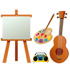 different items for hobby vector image vector image
