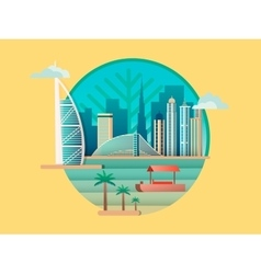 Dubai city building icon vector image vector image