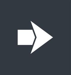 flat modern arrow vector image vector image