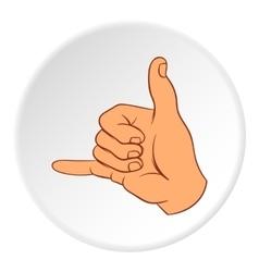 Gesture surfing icon cartoon style vector