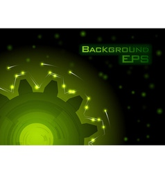 green tech background - eps10 vector image