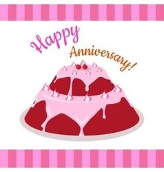 Happy anniversary strawberry pie multi level vector