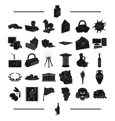 History tourism winemaking and other web icon in vector