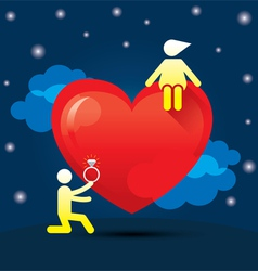 Human Symbol Love Story Marry Concept vector image
