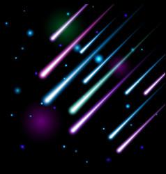 meteor shower vector image