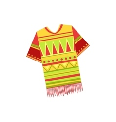 National Costume Mexican Culture Symbol vector image