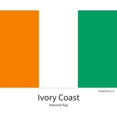 National flag of ivory coast with correct vector