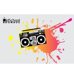 old school boombox vector image
