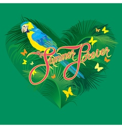 parrot heart 2 380 vector image