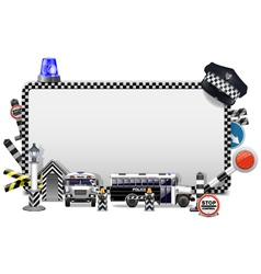 Police frame vector