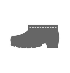 Rubber boots protective shoes flat icon or vector