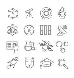 Science thin line icons set vector image