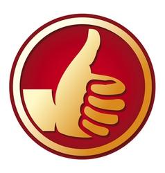 Human hand giving ok vector image