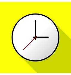 Clock icon flat design EPS10 vector image