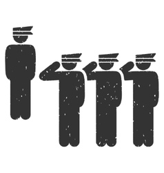 Army Icon Rubber Stamp vector image