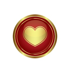 heart icon gold vector image