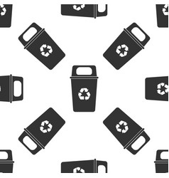 Recycle bin icon seamless pattern vector