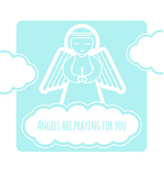 Angel greeting card template vector