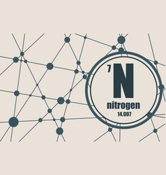 nitrogen chemical element vector image