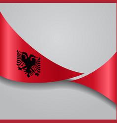 Albanian wavy flag vector