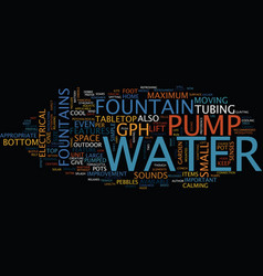 Fountains of refreshment text background word vector