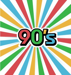 90s vintage art background vector
