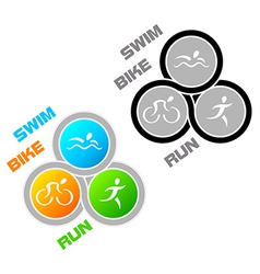 Triathlon symbol vector