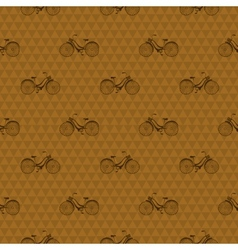 Seamless pattern with repeated images of bicycle vector