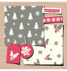 Christmas templates paper collection vector