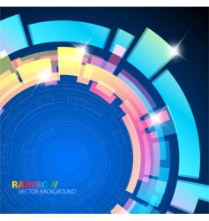 Abstract background with rainbow colors vector