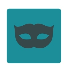 Privacy mask flat soft blue colors rounded button vector