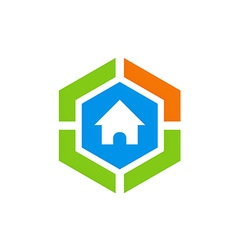 House protection secure abstract logo vector
