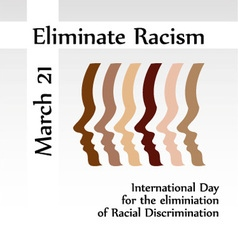 International day for the elimination of racism vector