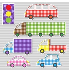 Transport textile stickers vector