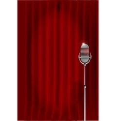 Stand up night curtain vector