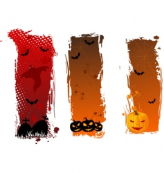 vertical grungy Halloween banners vector image