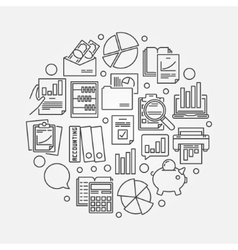 Accounting and research vector