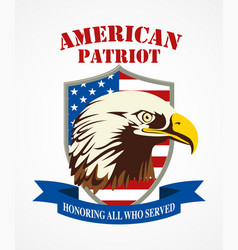 american patriot coat of arms vector image