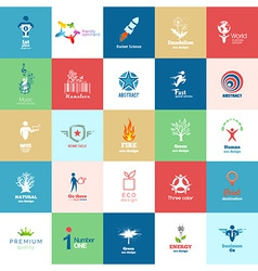 Big set of Design color icon set vector image