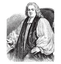 Bishop thomas wilson vintage vector