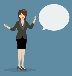 Business woman talking with body language vector