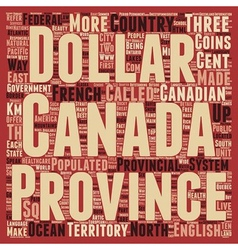 Canada text background wordcloud concept vector