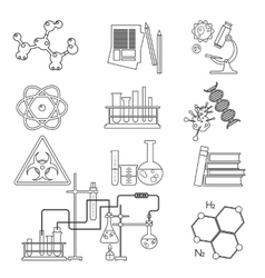 Chemical laboratory science and technology thin vector image vector image
