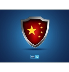 China shield on the blue background vector