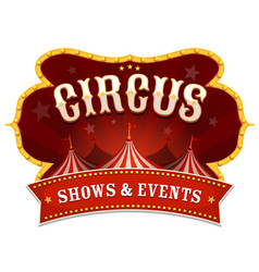circus banner with big top vector image vector image