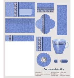 Design of corporate identity Denim pattern for the vector image